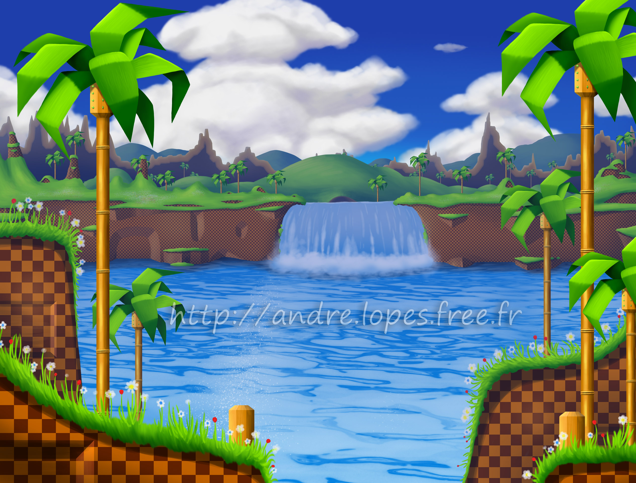 Sonic Green Hill Zone HD